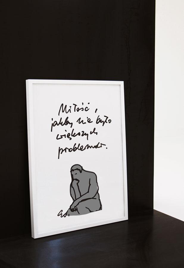 plakat Miłość, a czy nie ma innych problemów?