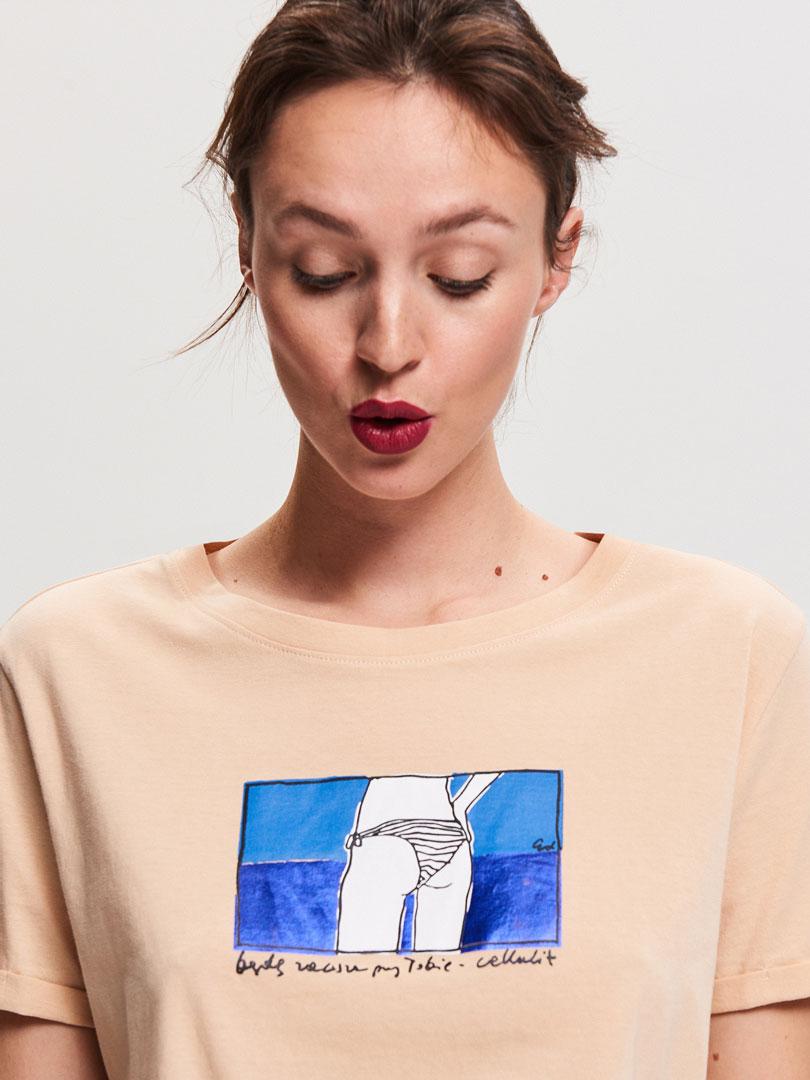 koszulka z rysunkiem Re Art Reserved Nigdy cię nie opuszczę - cellulit