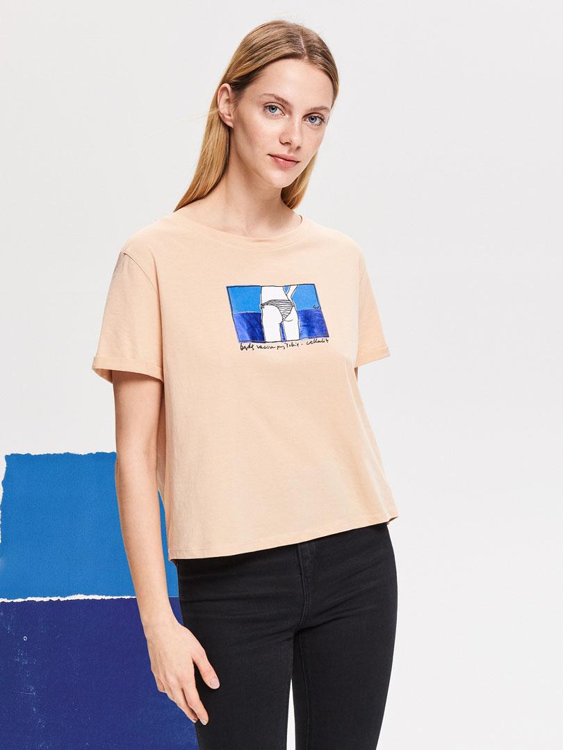 koszulka z rysunkiem Re Art Reserved Będę zawsze z Tobą - cellulit